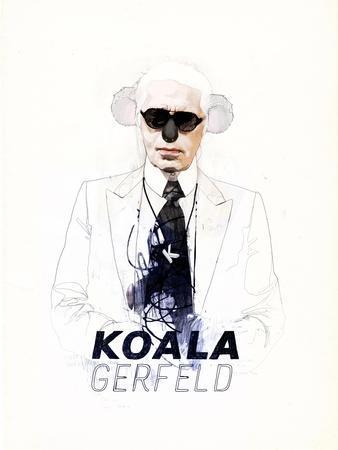 Koalagerfeld-Mydeadpony-Art Print