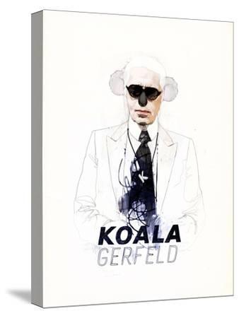 Koalagerfeld-Mydeadpony-Stretched Canvas Print