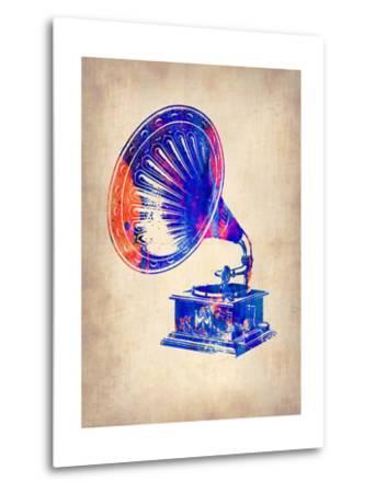Gramophone 2-NaxArt-Metal Print