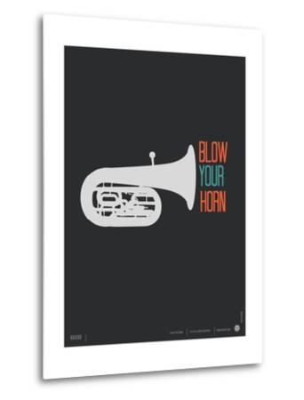 Blow Your Horn Poster-NaxArt-Metal Print