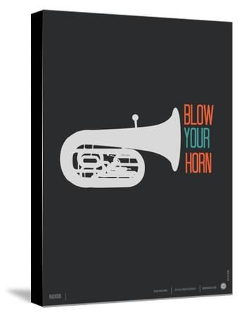 Blow Your Horn Poster-NaxArt-Stretched Canvas Print