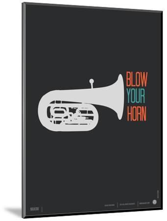 Blow Your Horn Poster-NaxArt-Mounted Art Print