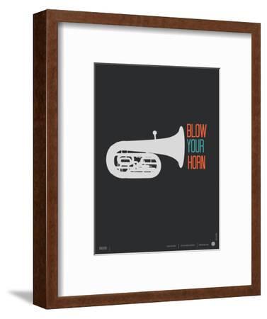 Blow Your Horn Poster-NaxArt-Framed Art Print