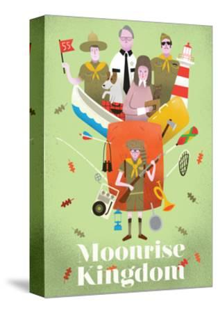 Moonrise Kingdom-Chris Wharton-Stretched Canvas Print