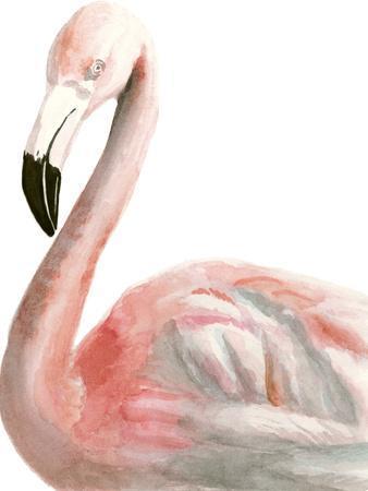 Watercolor Flamingo-Naomi McCavitt-Art Print