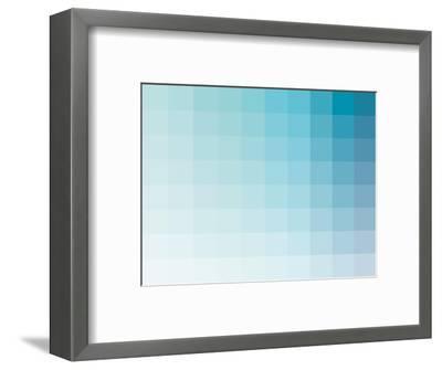 Aqua Rectangle Spectrum-Kindred Sol Collective-Framed Art Print
