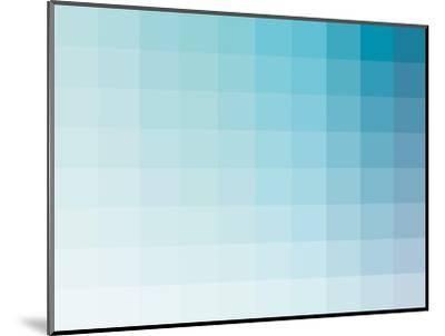 Aqua Rectangle Spectrum-Kindred Sol Collective-Mounted Art Print