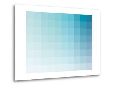 Aqua Rectangle Spectrum-Kindred Sol Collective-Metal Print