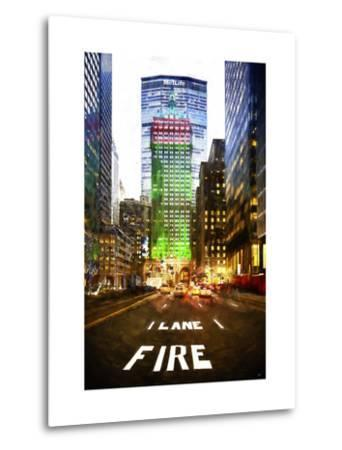 Manhattan Fire Lane-Philippe Hugonnard-Metal Print
