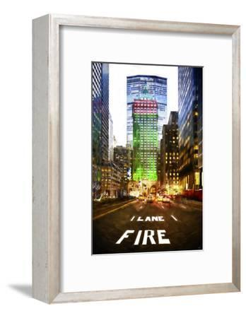 Manhattan Fire Lane-Philippe Hugonnard-Framed Art Print