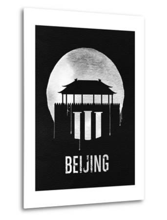 Beijing Landmark Black--Metal Print