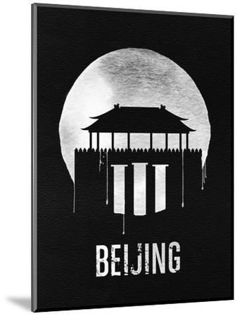 Beijing Landmark Black--Mounted Art Print