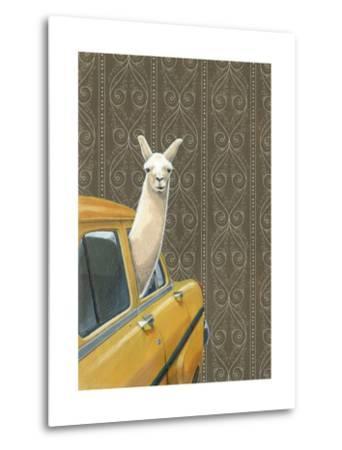 Taxi Llama-Jason Ratliff-Metal Print