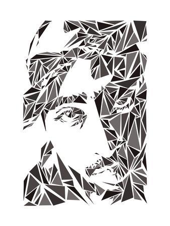 2 Pac-Cristian Mielu-Framed Art Print