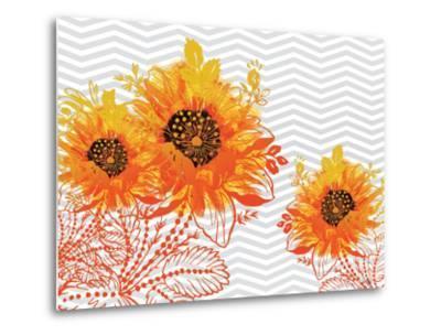 Sunflower Sunday-Bee Sturgis-Metal Print