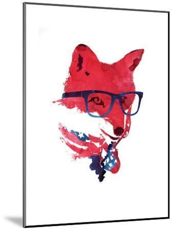 American Fox-Robert Farkas-Mounted Art Print