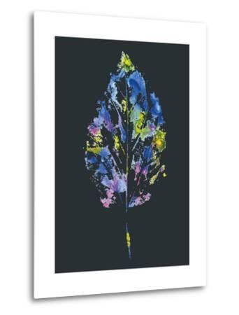 Beautiful Leaf of a Tree Painted Watercolors-molokot-Metal Print