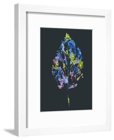 Beautiful Leaf of a Tree Painted Watercolors-molokot-Framed Art Print