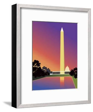 Washington Monument in Washington, DC, USA--Framed Art Print
