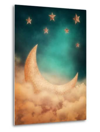 Moon And Stars-egal-Metal Print