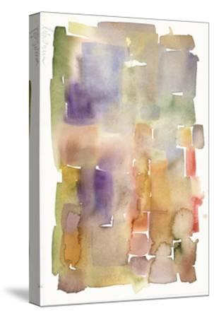 Abstract Watercolor Painting in Dull Colors--Stretched Canvas Print