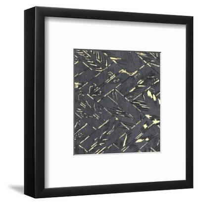 Illustrations of Stylized Symbol and Brushy Feathers--Framed Art Print