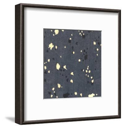 Illustrations of Stylized Leaves and Dots on Black--Framed Art Print
