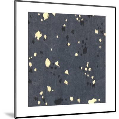 Illustrations of Stylized Leaves and Dots on Black--Mounted Art Print