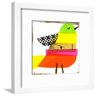Collage of Colorful Bird--Framed Art Print