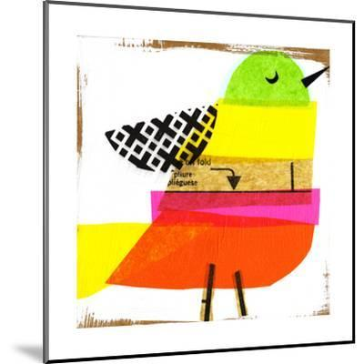 Collage of Colorful Bird--Mounted Art Print
