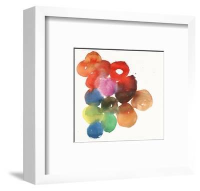 Colorful Watercolor Circles--Framed Art Print