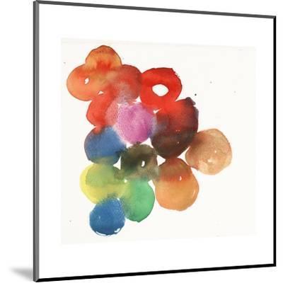 Colorful Watercolor Circles--Mounted Art Print