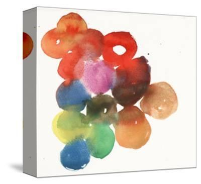 Colorful Watercolor Circles--Stretched Canvas Print