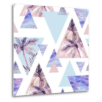 Abstract Summer Geometric Seamless Pattern-tanycya-Metal Print