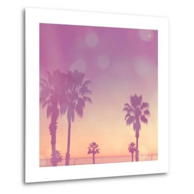 Palm Trees in California-Myan Soffia-Metal Print
