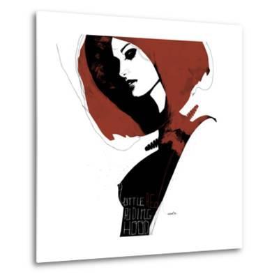 Little Red-Manuel Rebollo-Metal Print
