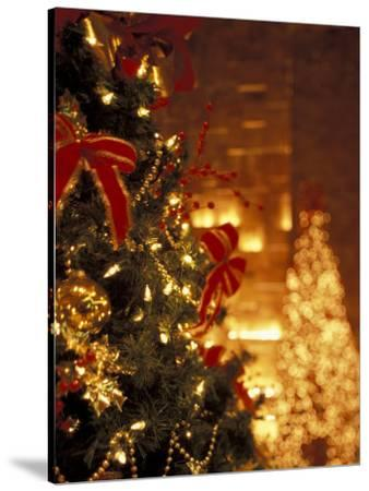 Christmas Decor at Trump Tower, New York, New York, USA-Michele Westmorland-Stretched Canvas Print