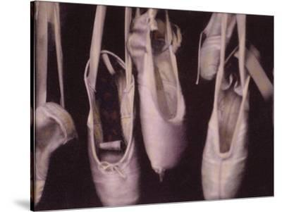 Worn Ballet Shoes Hanging in a Window-Jim Kelly-Stretched Canvas Print