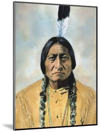 Sitting Bull (1834-1890)-D^ F^ Barry-Mounted Photographic Print