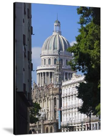 Capitol Building, Havana, UNESCO World Heritage Site, Cuba-Keren Su-Stretched Canvas Print