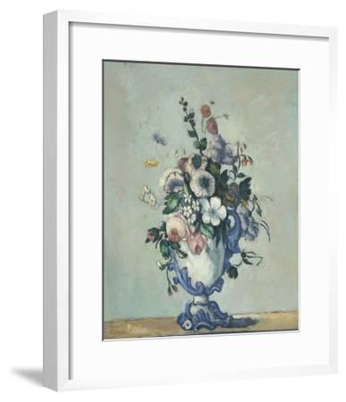 Flowers in a Rococo Vase, 1876-Paul Cezanne-Framed Giclee Print