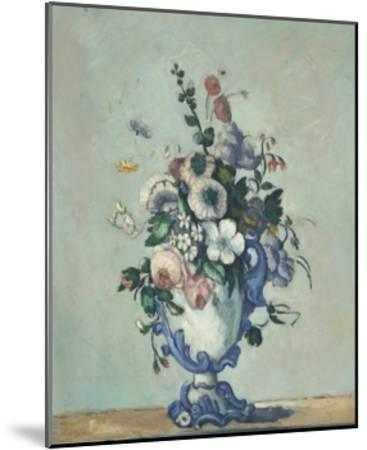 Flowers in a Rococo Vase, 1876-Paul Cezanne-Mounted Giclee Print