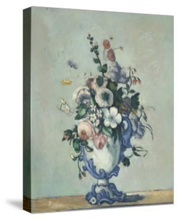 Flowers in a Rococo Vase, 1876-Paul Cezanne-Stretched Canvas Print