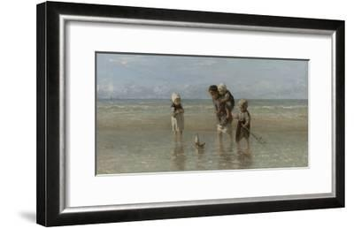 Children of the Sea, 1872-Jozef Israels-Framed Giclee Print