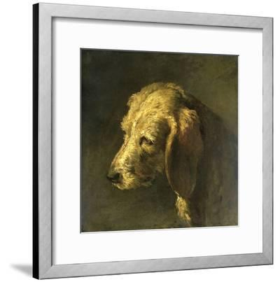 Head of a Dog, by Nicolas Toussaint Charlet, C. 1820-45-Nicolas Toussaint Charlet-Framed Giclee Print