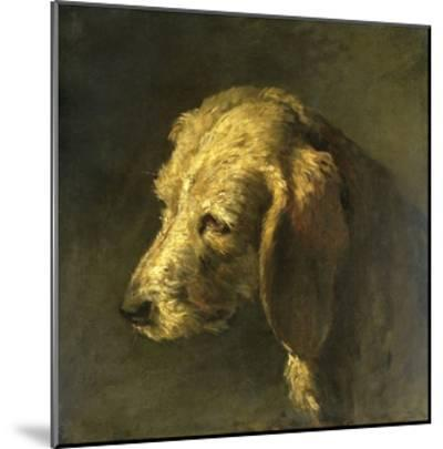 Head of a Dog, by Nicolas Toussaint Charlet, C. 1820-45-Nicolas Toussaint Charlet-Mounted Giclee Print