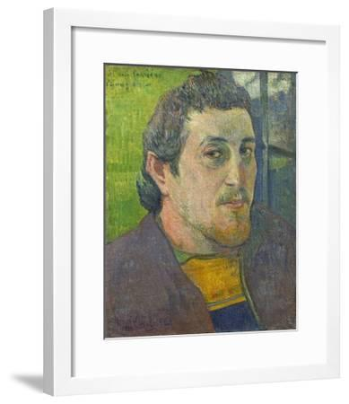 Self-Portrait Dedicated to Carriere, 1888-89-Paul Gauguin-Framed Giclee Print