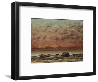 The Black Rocks at Trouville, 1865-66-Gustave Courbet-Framed Giclee Print