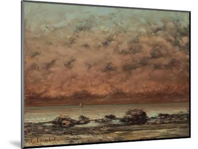 The Black Rocks at Trouville, 1865-66-Gustave Courbet-Mounted Giclee Print