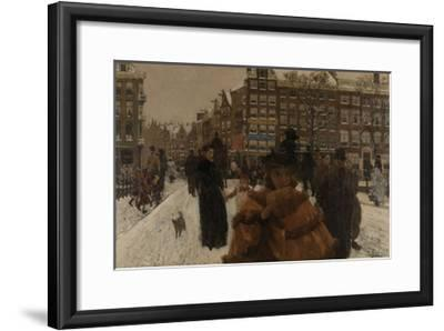 Bridge over the Singel at the Paleisstraat, Amsterdam, C. 1896-George Hendrik Breitner-Framed Giclee Print